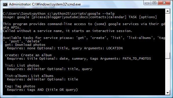 Google Command Line Tool